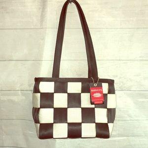 Harvey's seatbelt purse shoulder bag tote Checkers